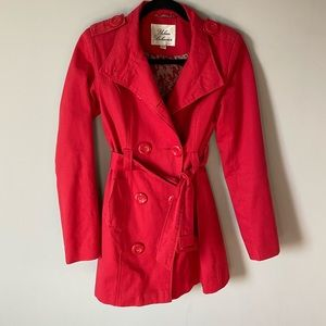 Jackets & Blazers - Cute Red Trench Coat